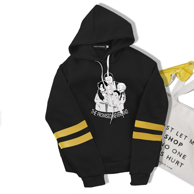 Anime The Promised Neverland Cropped Long Sleeves Hoodies