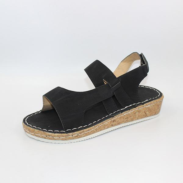 Mokoshoes Hollow Out Wedges Buckle Platform Casual Sandals