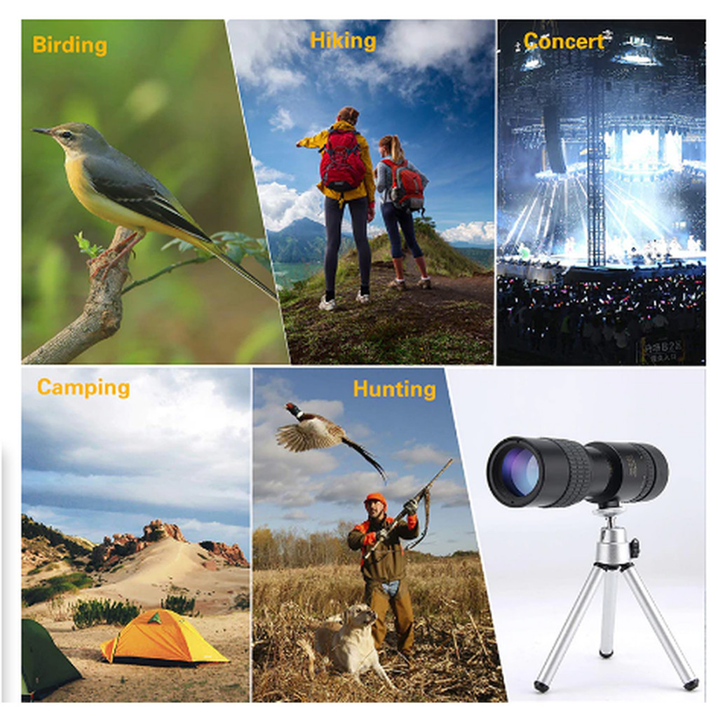 🔥Special promotion!🔥 4k 10-300x40mm Super Telephoto Zoom Monocular