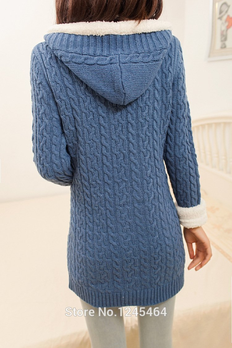 (40% OFF) 2020 New cashmere thick warm hooded coat
