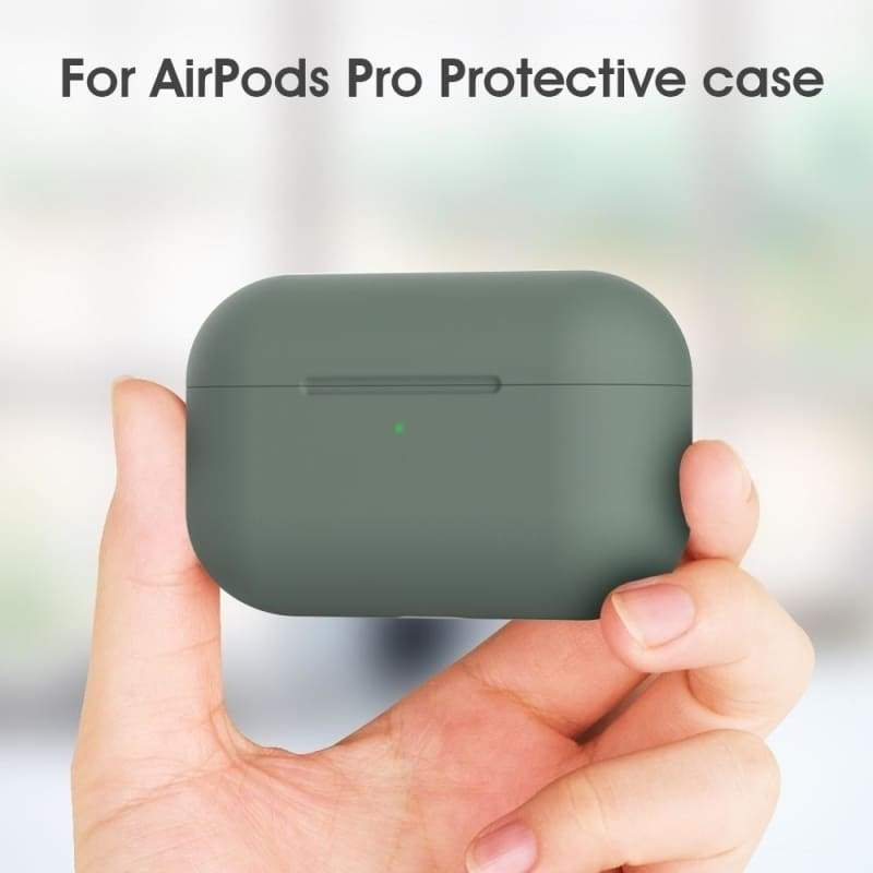 for Candy color TPU Silicone AirPods Pro Case Apple AirPods Pro Wireless Headphone ShockProof Protective Cover Air pods Pro Protector Sleeve Skin