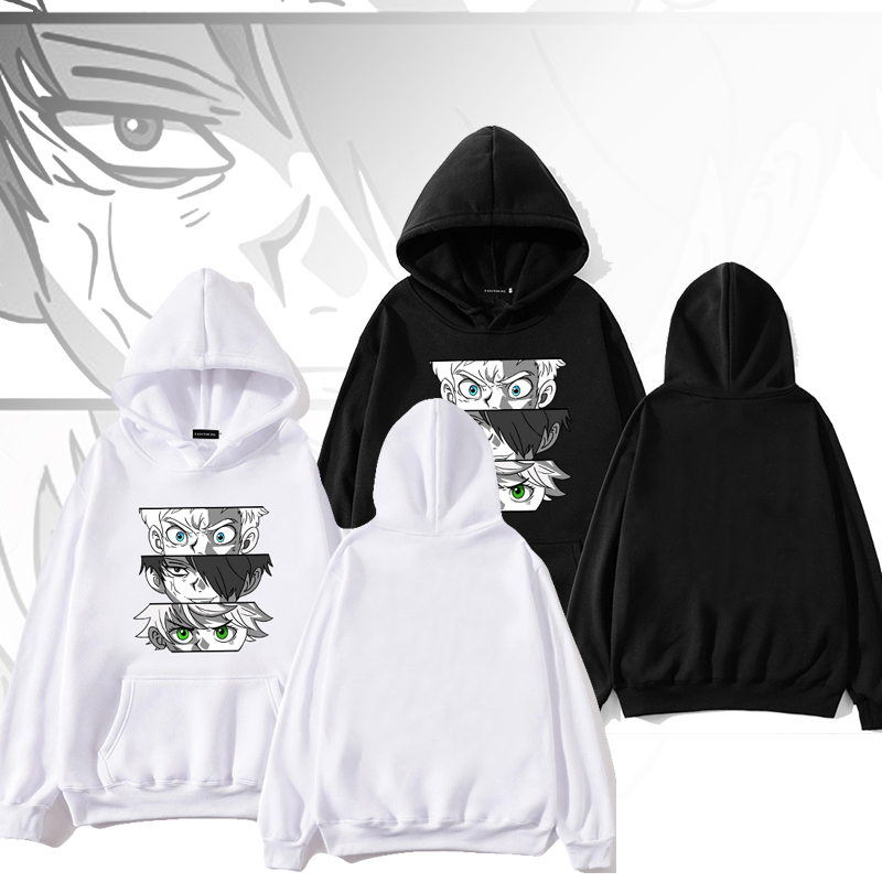 The Promised Neverland Casual Pullover Anime Long Sleeve Hoodie