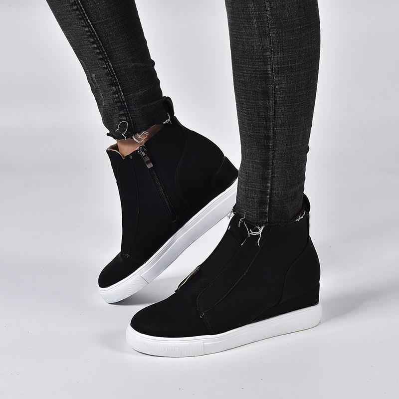 2019 Autumn Wedge Women Loafers Slip On Shoes For Women