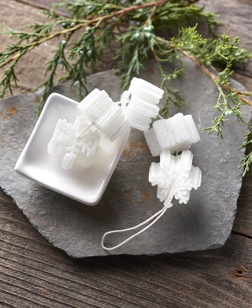 Candles On A Rope With Ceramic Holder