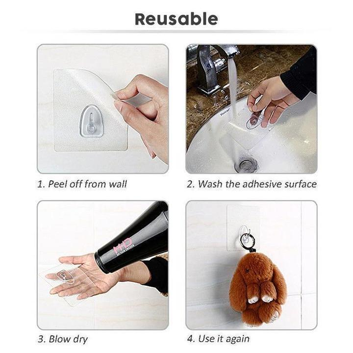 Reusable Anti-skid Traceless Hooks (5PCS)