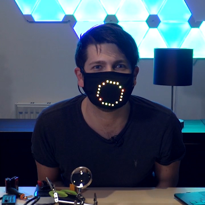 😀LED Voice Recognition Face Cover