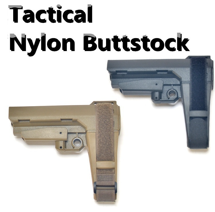 The Lastest Tactical AEG Airsoft Nylon Stock Tied Hand Rear Support Water Bullet Airgun SLR 556 M4 Modification Accessories DIY Toys Butt Parts