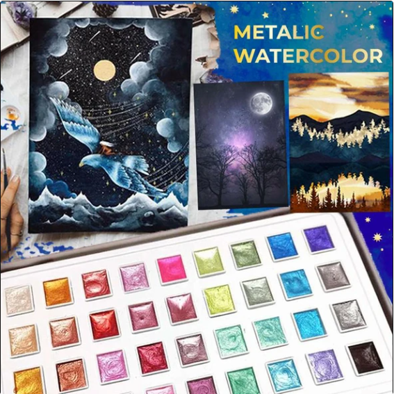 Metallic Watercolor Set 12/36/48 Color