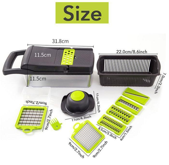 Mokoshoes Multifunctional Portable Vegetable Chopper