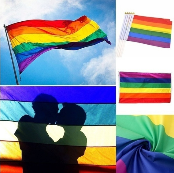 Rainbow Flags And Banners 3x5FT/90x150cm Lesbian Gay Pride LGBT Flag