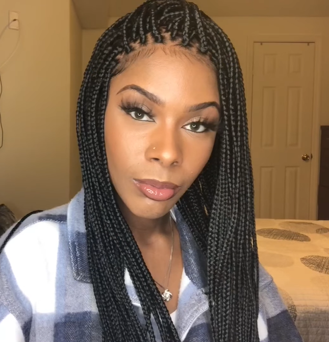 💕The BEST Braided Wig  Neat And Sleek -Lace Wig