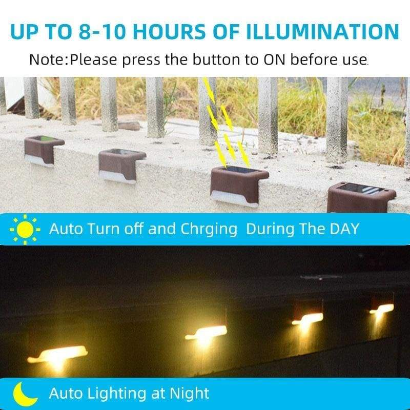 New 4/8/12pcs Outdoor Solar Deck Lights Solar Step Lights Wall-mounted Waterproof Nightlight Security Solar Lights for Stairs Step Fence Yard Patio and Pathway