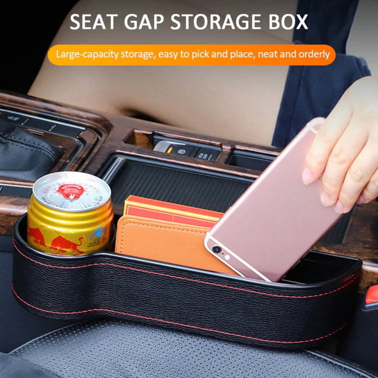 Car Seat Gap Filler with Cup Holder Car Seat Gap Storage Box -- Order ANY TWO BOX REDUCE $5