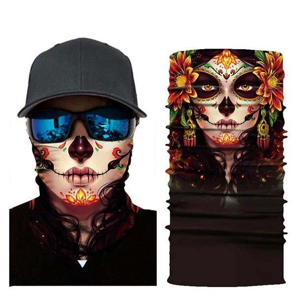 2020 78 Styles Fashion Cool Joker Skull Halloween Mask Scarf Joker Headband Balaclavas for Cycling Fishing Ski Motorcycle Face Mask