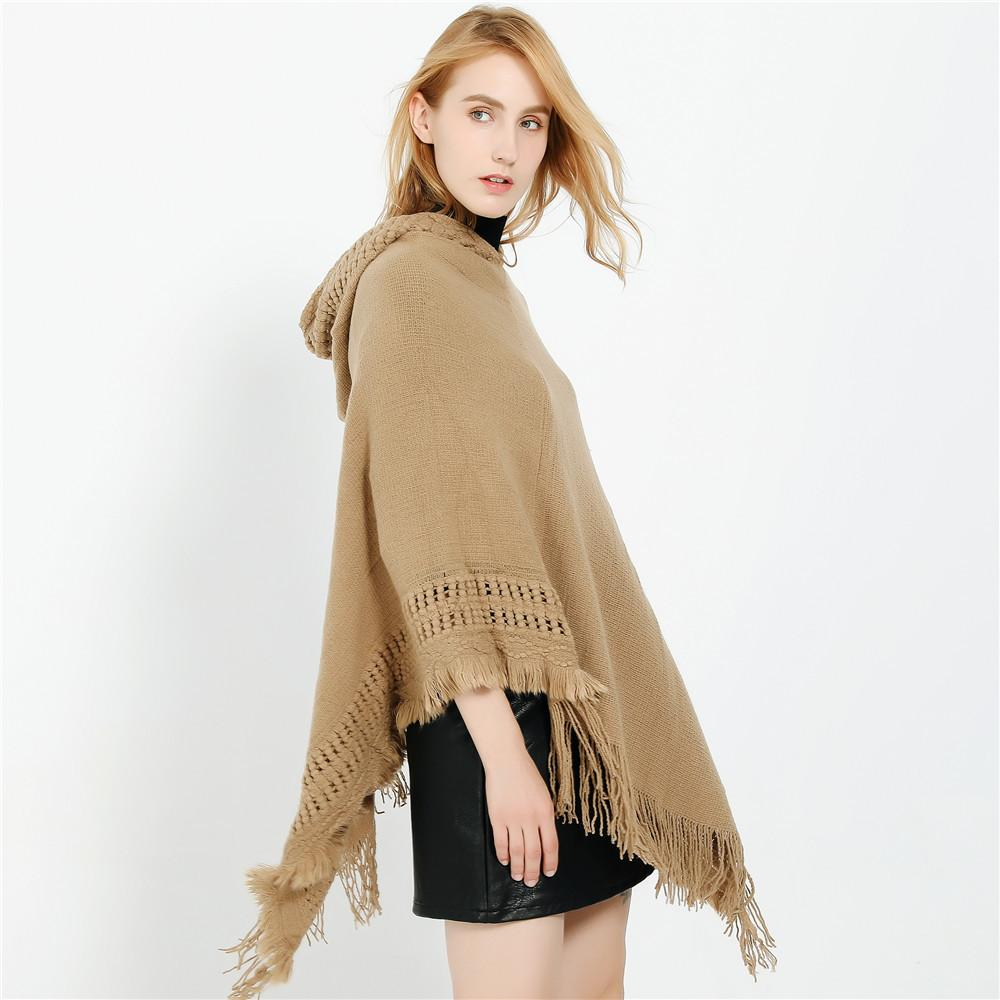 High Quality Cashmere-like Shawl With Fringed Head And Cap Scarf  Women Shawls Winter Pashmina scarf-1.9