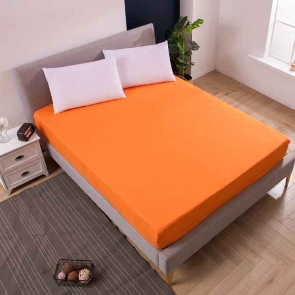 100% Waterproof Solid Color Fitted Sheet Mattress Covers With Elastic Mattress Protector Bedspeard Mats Pad Twin/Twin XL/Full/Queen/King/Cal King Size
