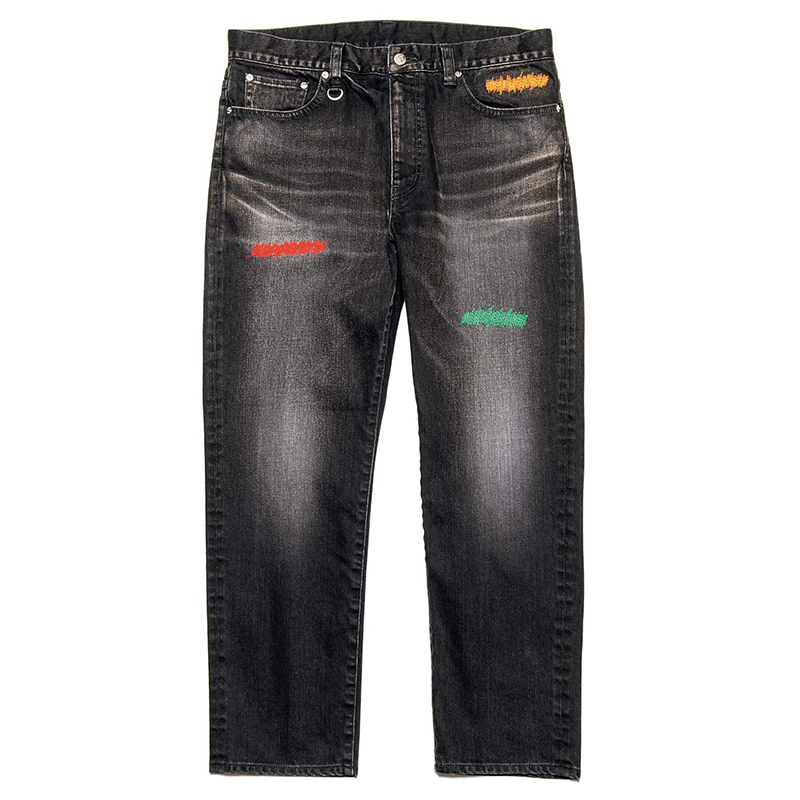 Embroidered element jeans