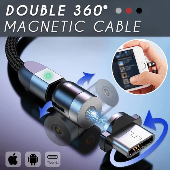 Double 360° Magnetic Cable (30% OFF)