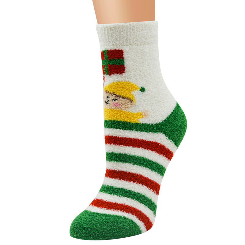 Christmas Fuzzy Socks Winter Warm Cozy Stocking (4-pairs)