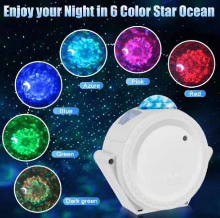 6 Colors Ocean Waving Light Stary Sky Projector LED  Light