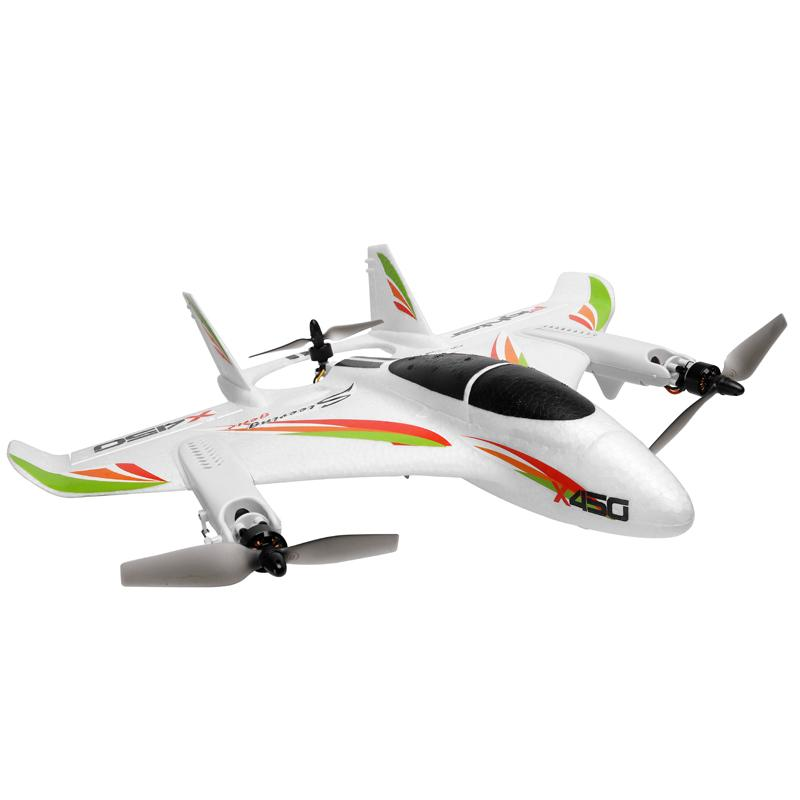WLtoys XK X450 RC Airplane, 2.4G 6CH RC Glider Fixed Wing Aircraft