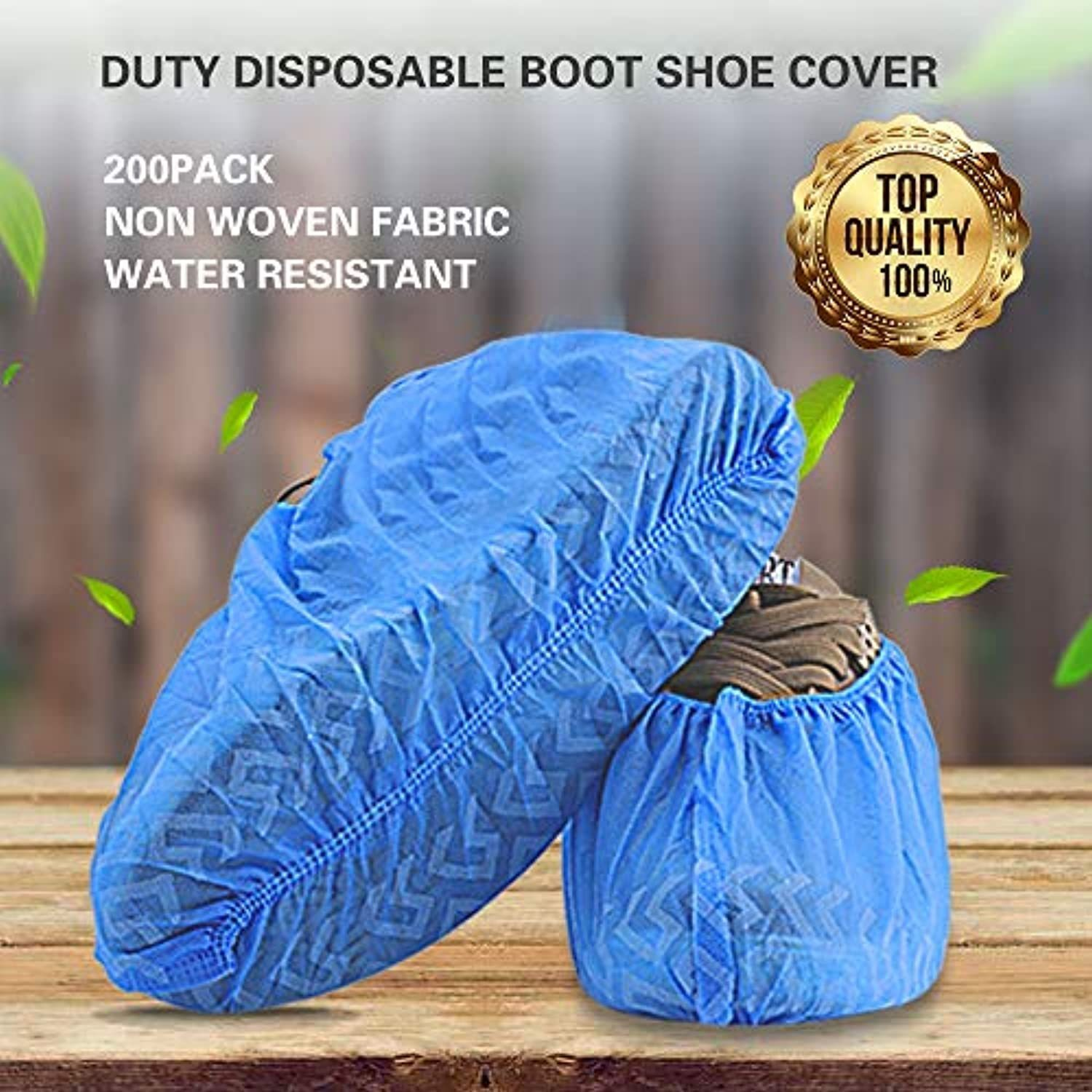 Premium Disposable Boot & Shoe Covers 100Pack (50 Pairs) | Non-Slip, Durable, Indoor | Protect Your Home, Floors and Shoes (XXL 100pcs)