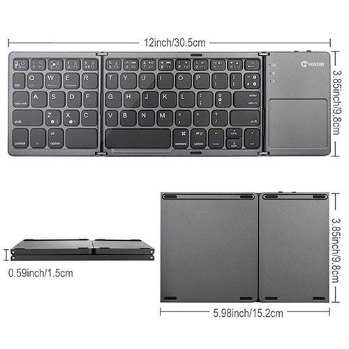 FOLDING BLUE TOOTH KEYBOARD WITH TOUCHPAD