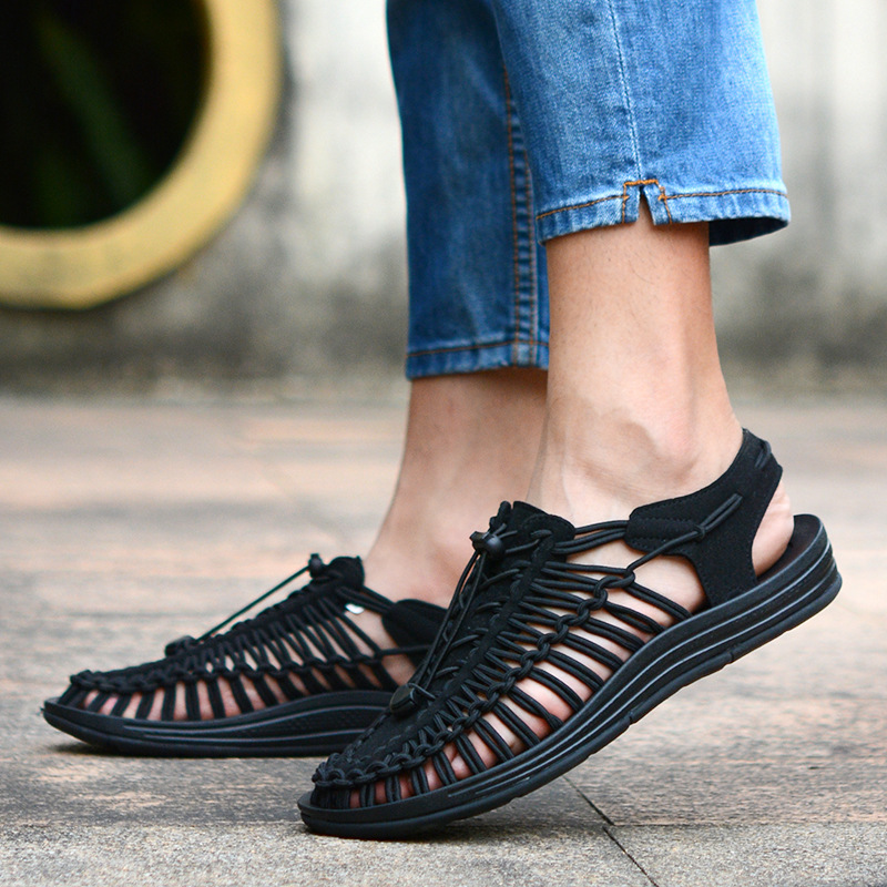 Outdoor leisure breathable non-slip woven sandals