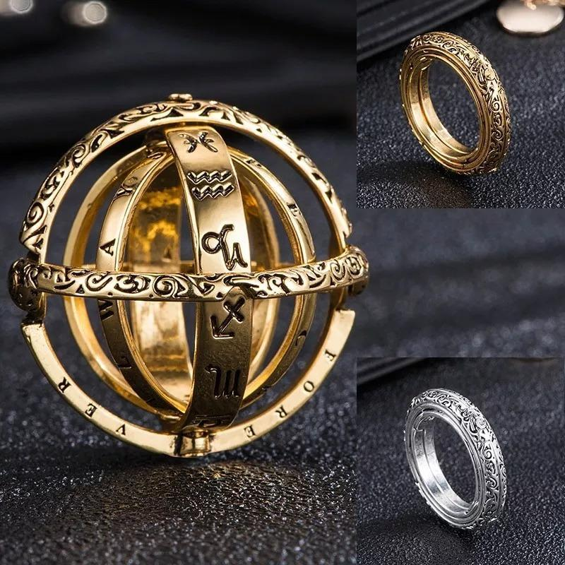 Astronomical Love Sphere Genuine Titanium Ring (With A Free Chain)