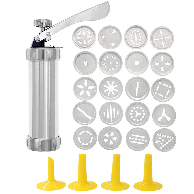 🍪Cookie Press Gun Kit, with 20 Stainless Steel Cookie Discs and 4 Nozzles🍪