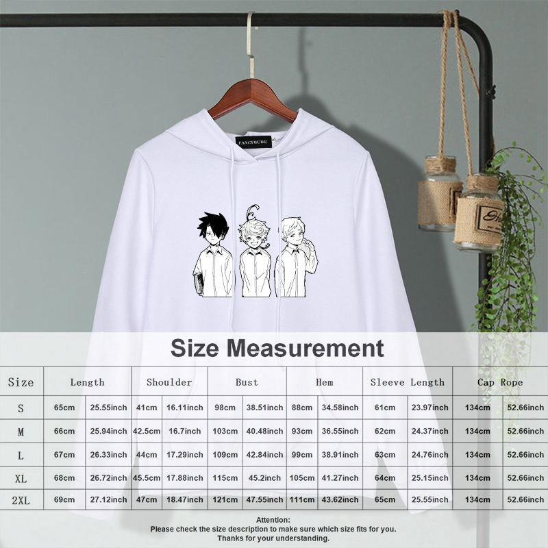 The Promised Neverland Print Pocket Casual Long Sleeve Pullover Hoodie