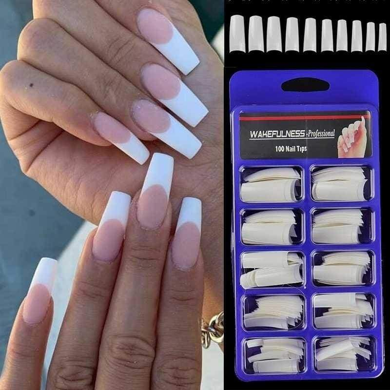 100pcs False Nails Tips Practice Polish Gel Artificial Fake Nail Art