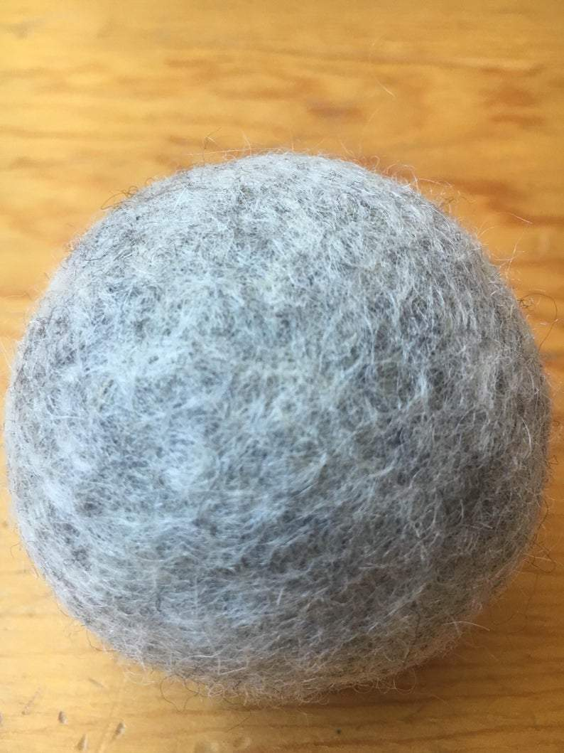 Dog Toy, wool ball play toy, fetch toy, organic and natural sheep fleece with Free Shipping