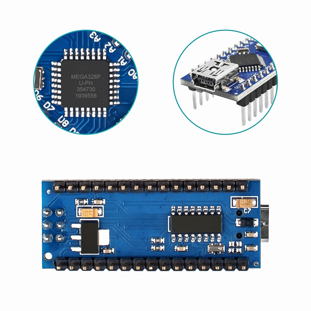 Hosyond 3pcs/set  Nano 3.0 ATmega328P Controller Board CH340 USB Driver with Cable for Arduino