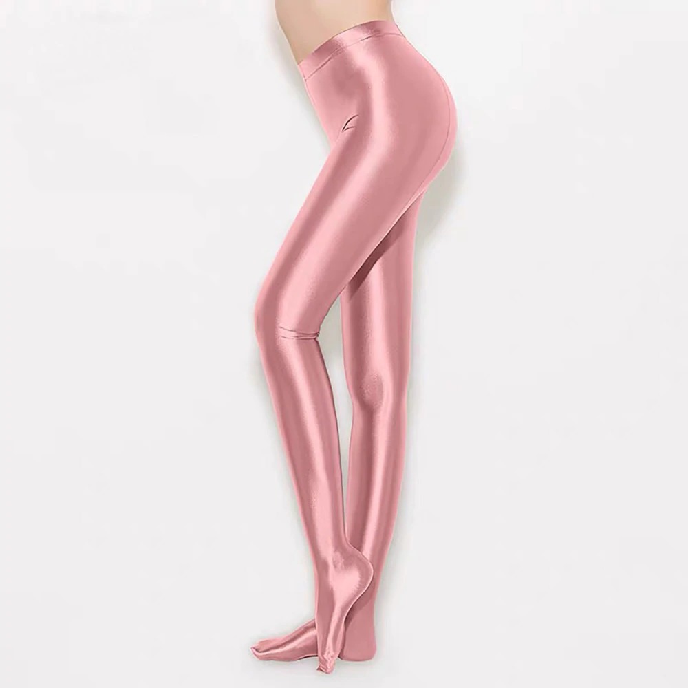 Satin GLOSSY OPAQUE Stockings Yoga Sport Leggings