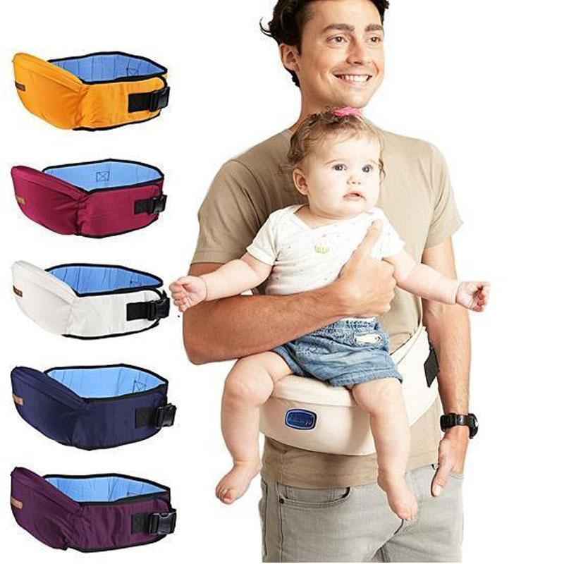 Sturdy Baby Hip-waist Stool Carrier with Adjustable Belt Mesh Pocket