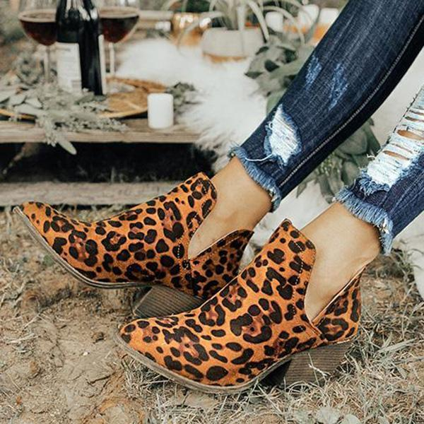 Mokoshoes Cut Out Booties Ankle Heels Boots