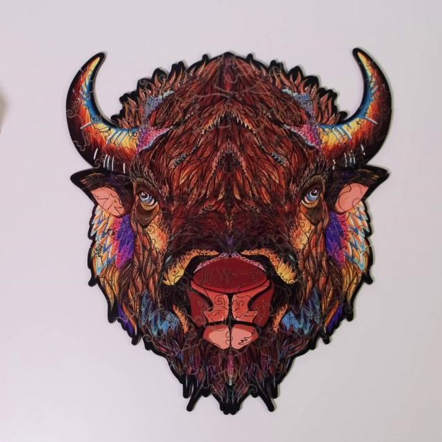 Wooden puzzle Mythical cow