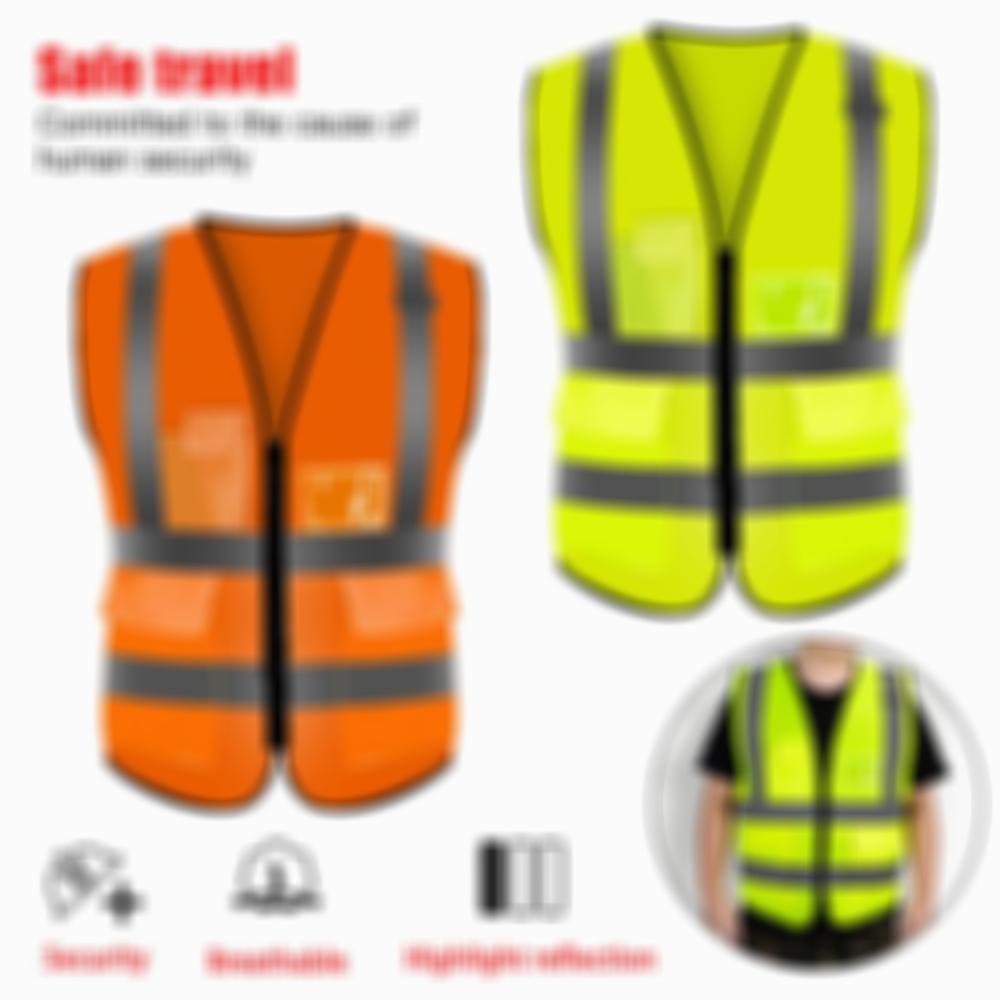 Traffic Night safety vest Work Security Running Cycling bike reflective for women man High Visibility reflective vest