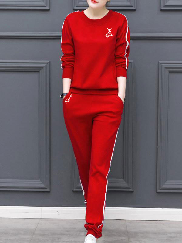 Two-piece Fashion Long-sleeved Sports Style Suit