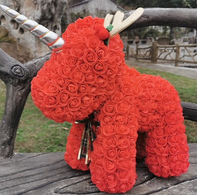 Eternal flower rose unicorn-red