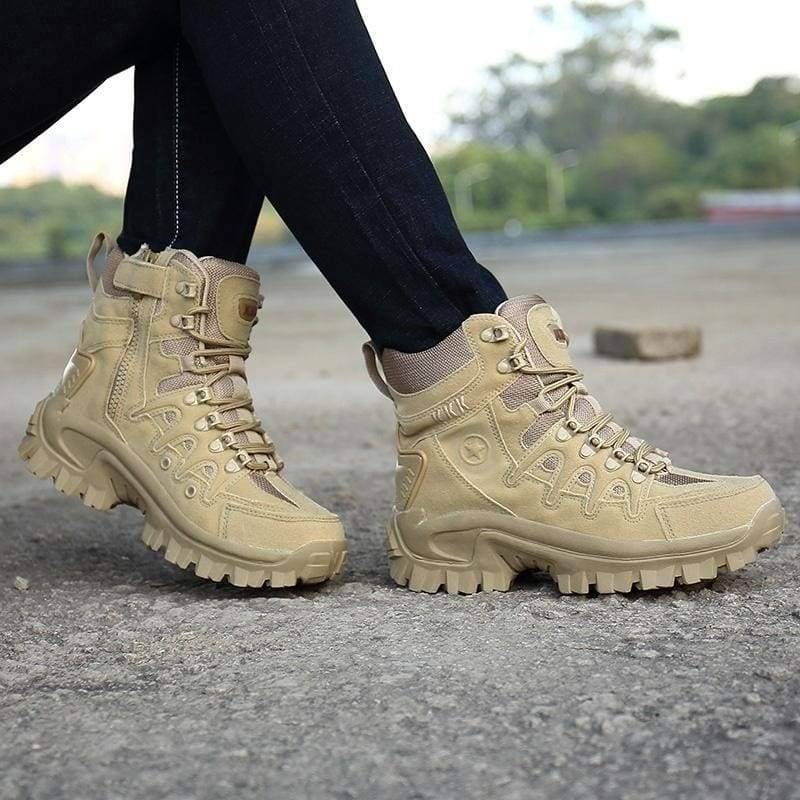 Military Combat Boots Men Outdoor Tactical Army Shoes Waterproof Camouflage Hunting Boots Non-slip Desert Boots Hiking Shoes for Men