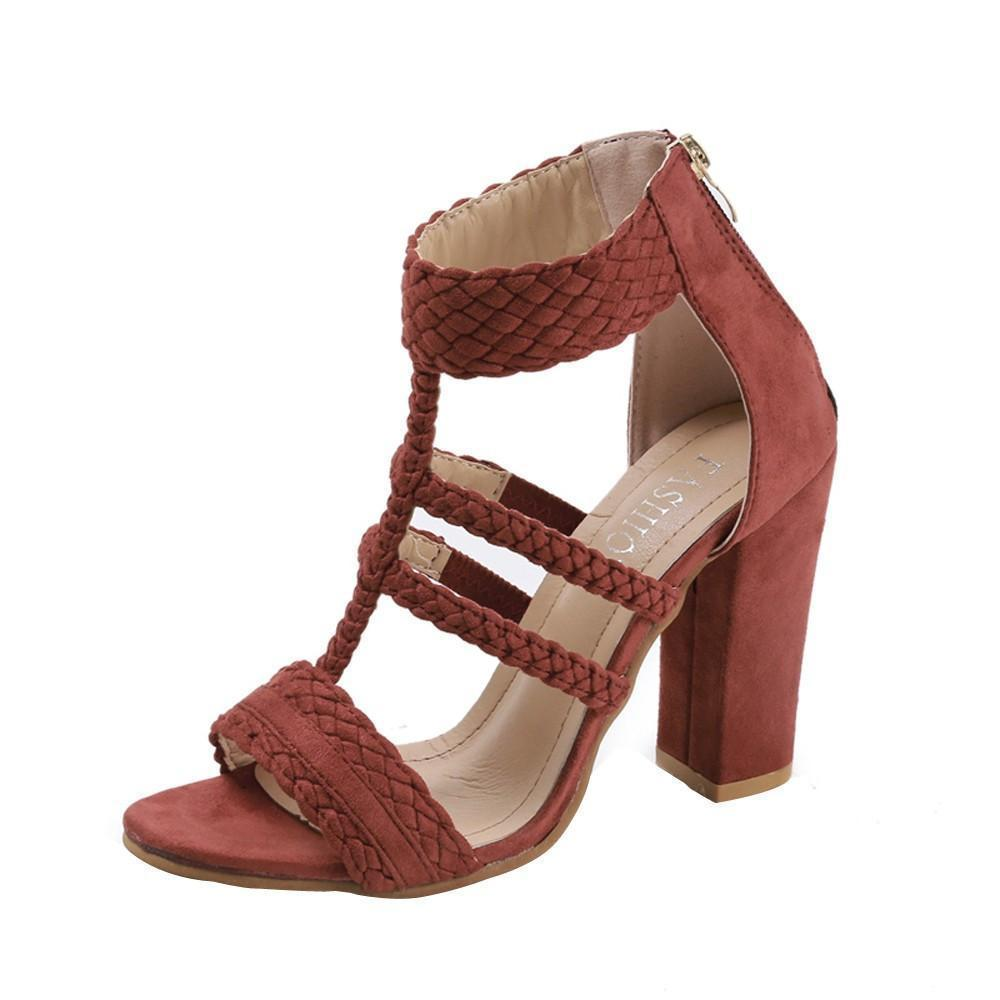Peep Toe Leisure High Heels Sandals For Women