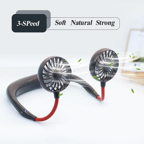 ✨50% off Last day Promotion✨Rechargeable Neckband Fan - Keep Cool Wherever You Are!