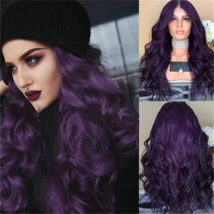 ✨New Sale 40% OFF ✨Fashion Purple Long Curly Hair Wig