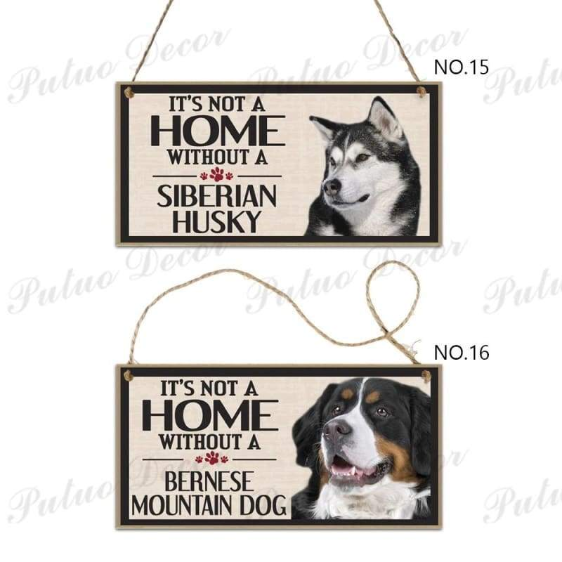 18 Kinds of Dog Signs Hanging Plaques Wooden Pet Lover Gift Home Decoration 3.9'¡Á7.8'