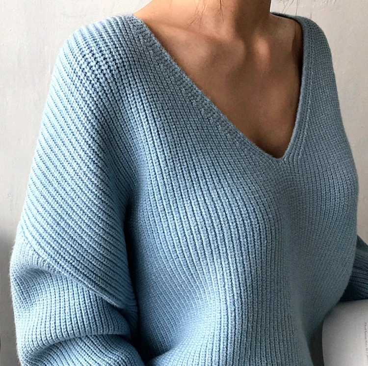 Loose and Over-Sized Winter Knitted Sweater