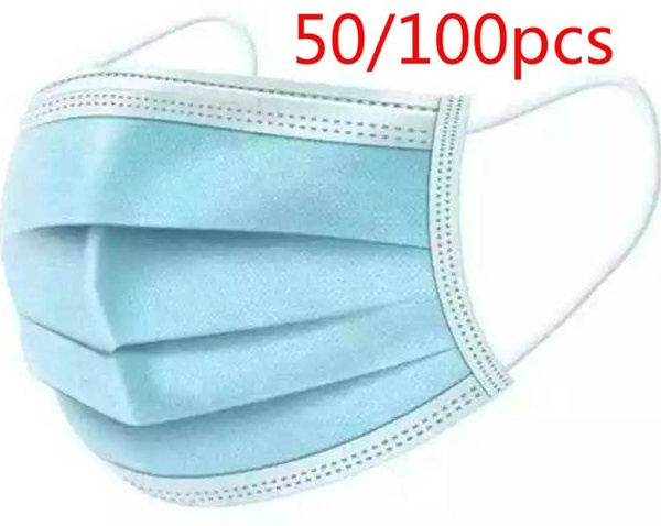 Powerful 3 Layer Fabric Disposable Medical Dustproof Surgical Face Mouth Masks Ear Loop anti-virus Protective mask