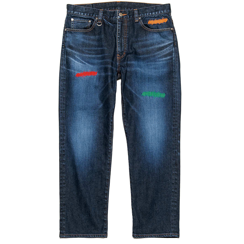 Embroidered classic jeans