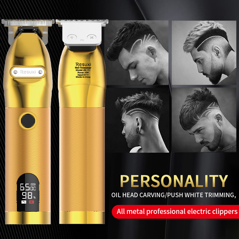 🔥Gold Skeleton Cordless Trimmer(LCD Power Display)